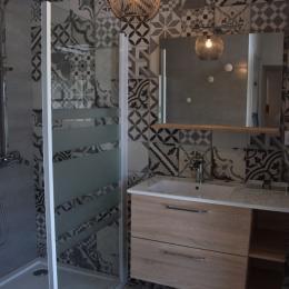 salle d'eau au RDC avec WC - Location de vacances - Plomodiern