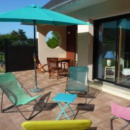 La terrasse côté jardin - Location de vacances - Roscanvel