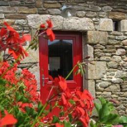 Entrée de la maison donnant sur un jardin clos - Location de vacances - Le Conquet