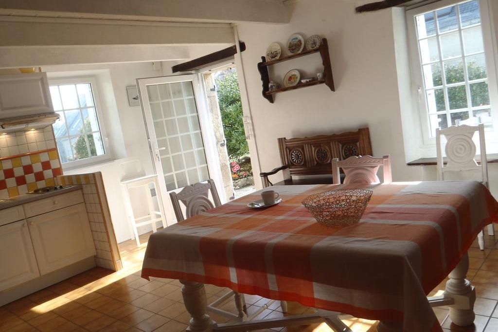 Diner sur la terrasse face à l'océan - Location de vacances - Penmarc'h