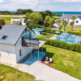 Terrasse vue sur mer et Iles de Batz - Location de vacances - Cléder