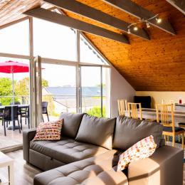 salon séjour cuisine avec vue exceptionnelle - Location de vacances - Cléder