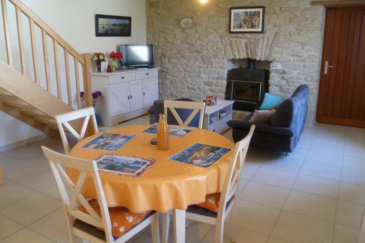 salon séjour - Location de vacances - Saint-Jean-Trolimon