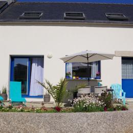 Terrasse avec jardin extérieur commun au calme - Location de vacances - Plouguerneau