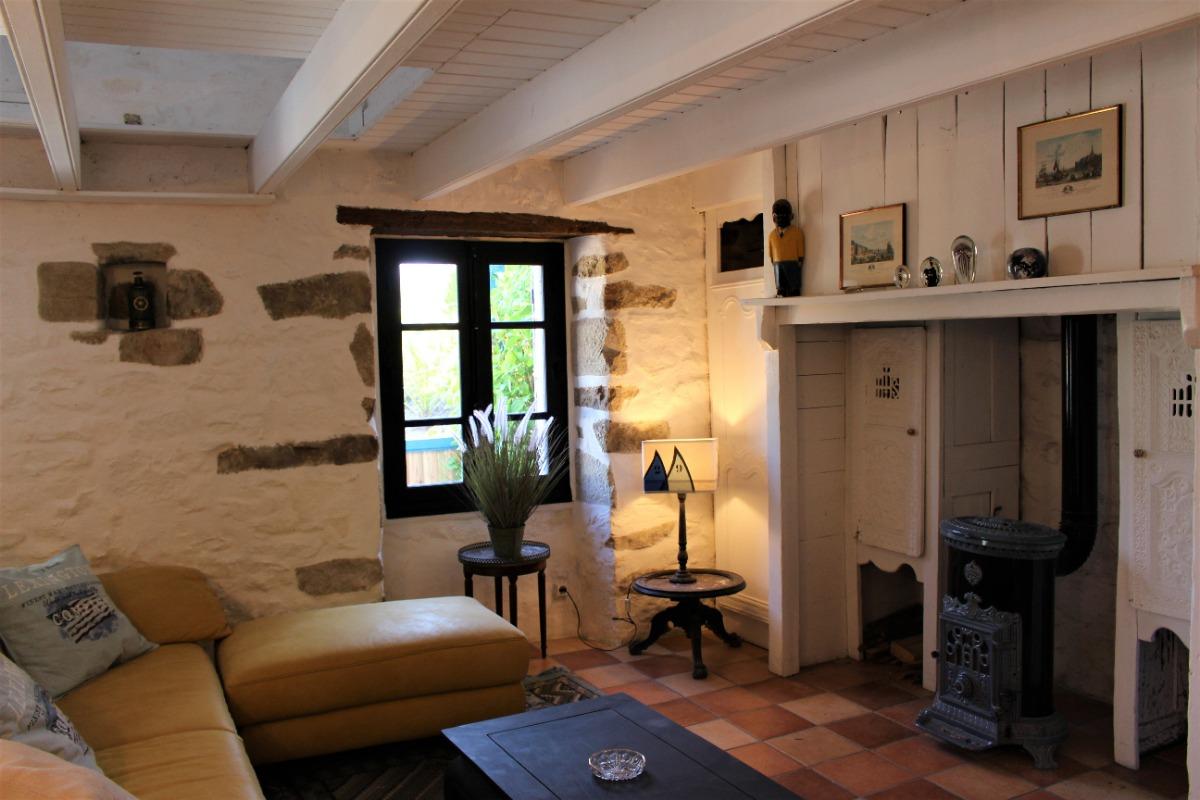 Salon séjour cuisine - Location de vacances - Cléden-Cap-Sizun