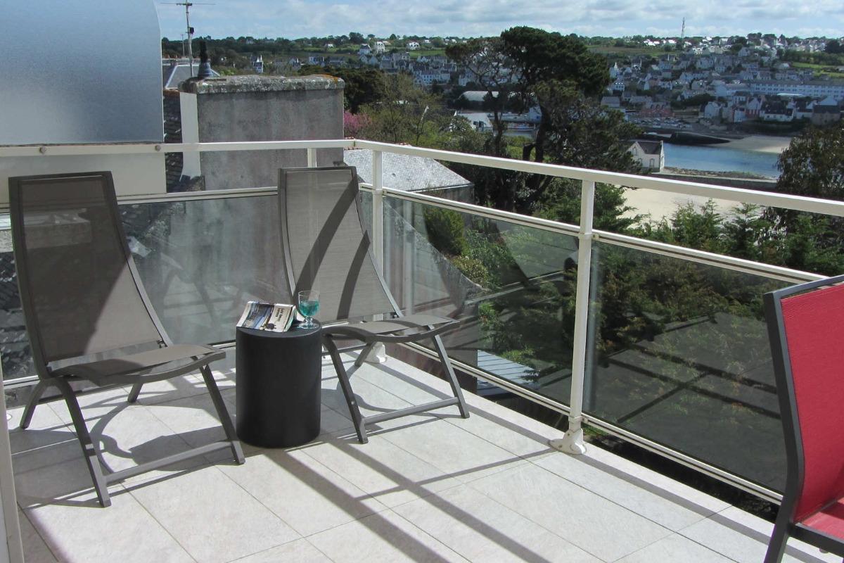 Le coin détente sur la terrasse - Location de vacances - Audierne
