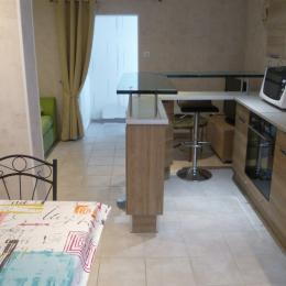 Cuisine séjour salon - Location de vacances - Roscanvel