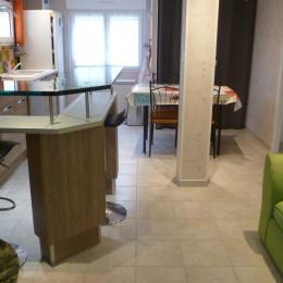 salon séjour cuisine - Location de vacances - Roscanvel