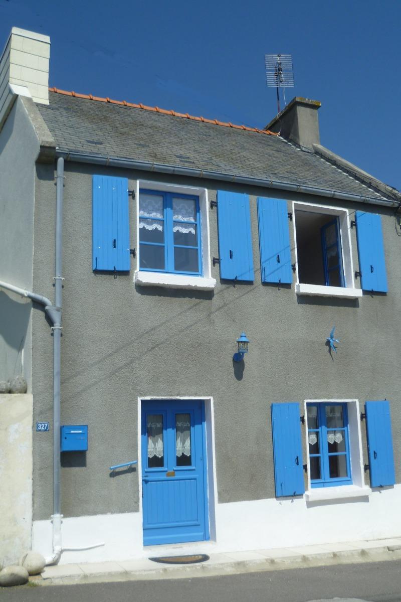 façade de l'ancienne maison de pêcheur - Location de vacances - Plouguerneau