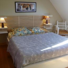 chambre avec lit 160 et placard penderie - Location de vacances - Logonna-Daoulas