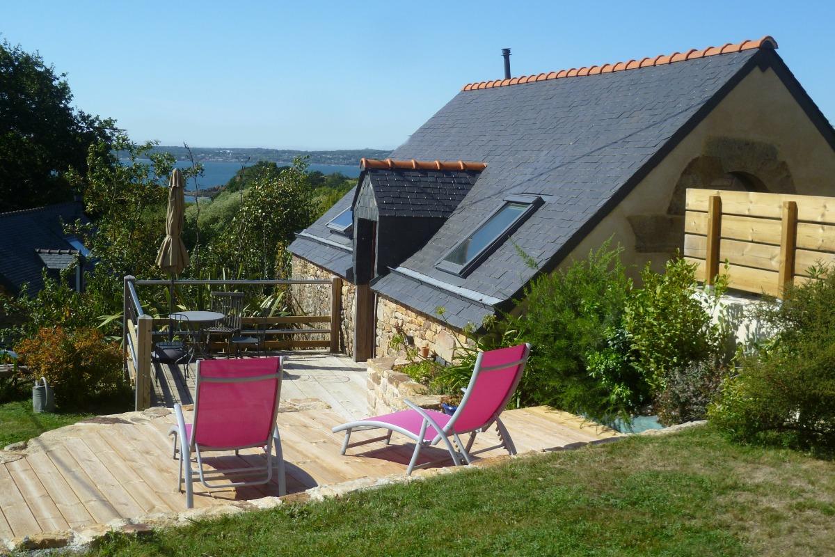 maison pour 2 personnes avec 2 terrasses et vue mer - Location de vacances - Logonna-Daoulas