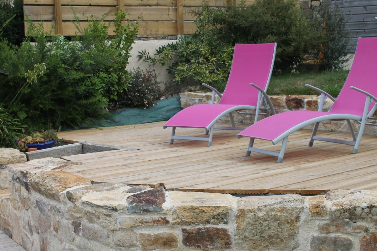 repas et calme sur la terrasse - Location de vacances - Logonna-Daoulas