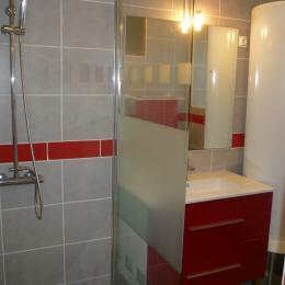 Salle d'eau indépendante avec WC indépendant - Location de vacances - Plomodiern