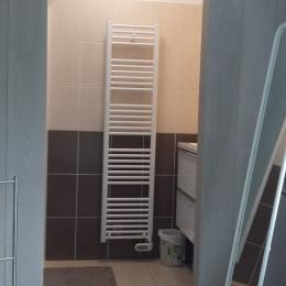 salle d'eau dans la chambre avec grande douche à l'italienne - Location de vacances - Guissény