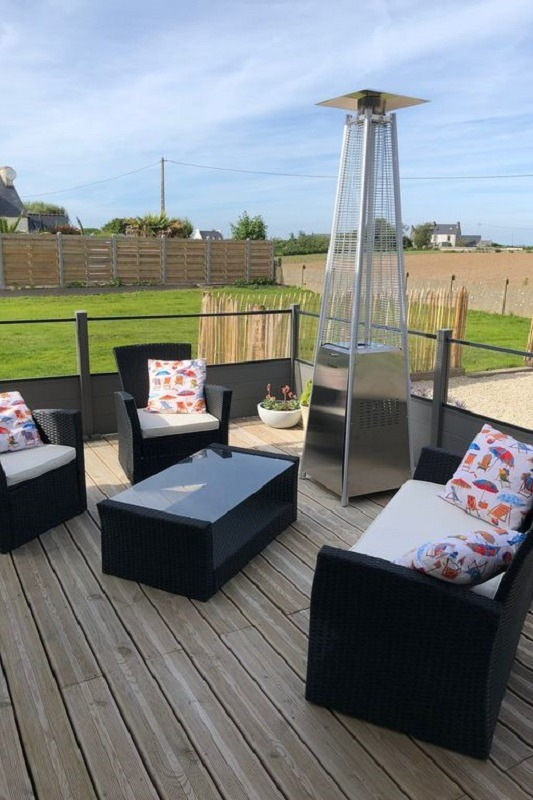 terrasse 1 spacieuse avec salon de jardon - Location de vacances - Santec