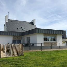 extension avec terrasse et jardin à l'arrière de la maison - Location de vacances - Santec