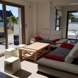 salon séjour de 70 m² - Location de vacances - Loctudy