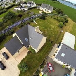 Vue aérienne de la maison - Location de vacances - Plouguerneau