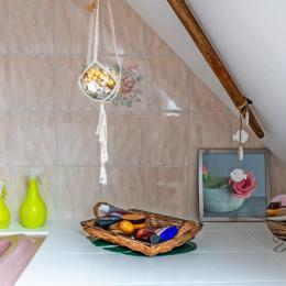 chambre des Iles attenante  la salle de bain - Chambre d'hôtes - Plouguerneau