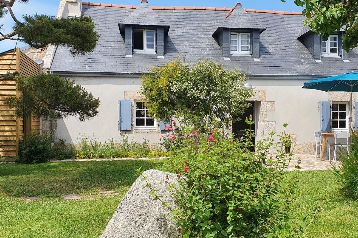 salon séjour - Location de vacances - Treffiagat
