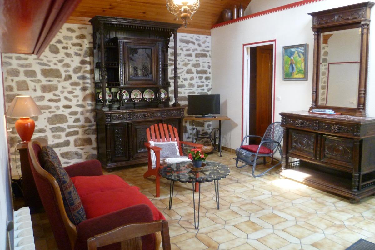 grand salon séjour - Location de vacances - Guissény