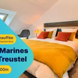 Salon donnant sur la terrasse avec baie vitrée  - Location de vacances - Combrit