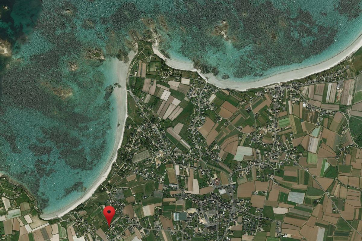 Vue satellite emplacement maison - Location de vacances - Santec