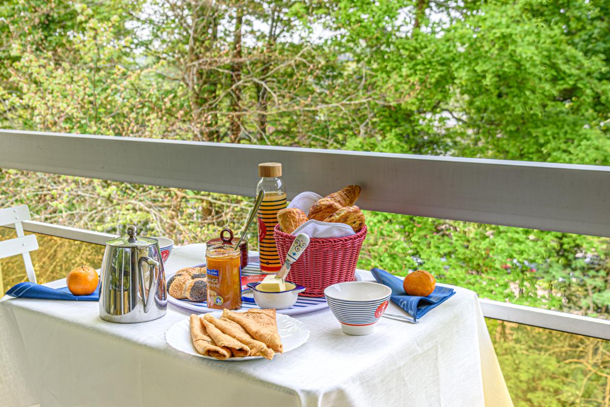 balcon exposé ouest sans aucun vis à vis - Location de vacances - Quimper