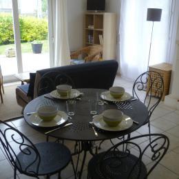 salon avec cheminée - Location de vacances - Landunvez