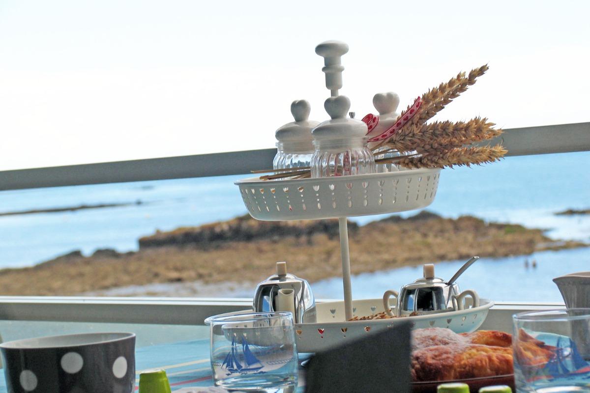vue de la cuisine   - Location de vacances - Concarneau