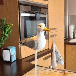 partie de la cuisine -grand frigo/ Lave vaisselle/machine à laver - Location de vacances - Concarneau