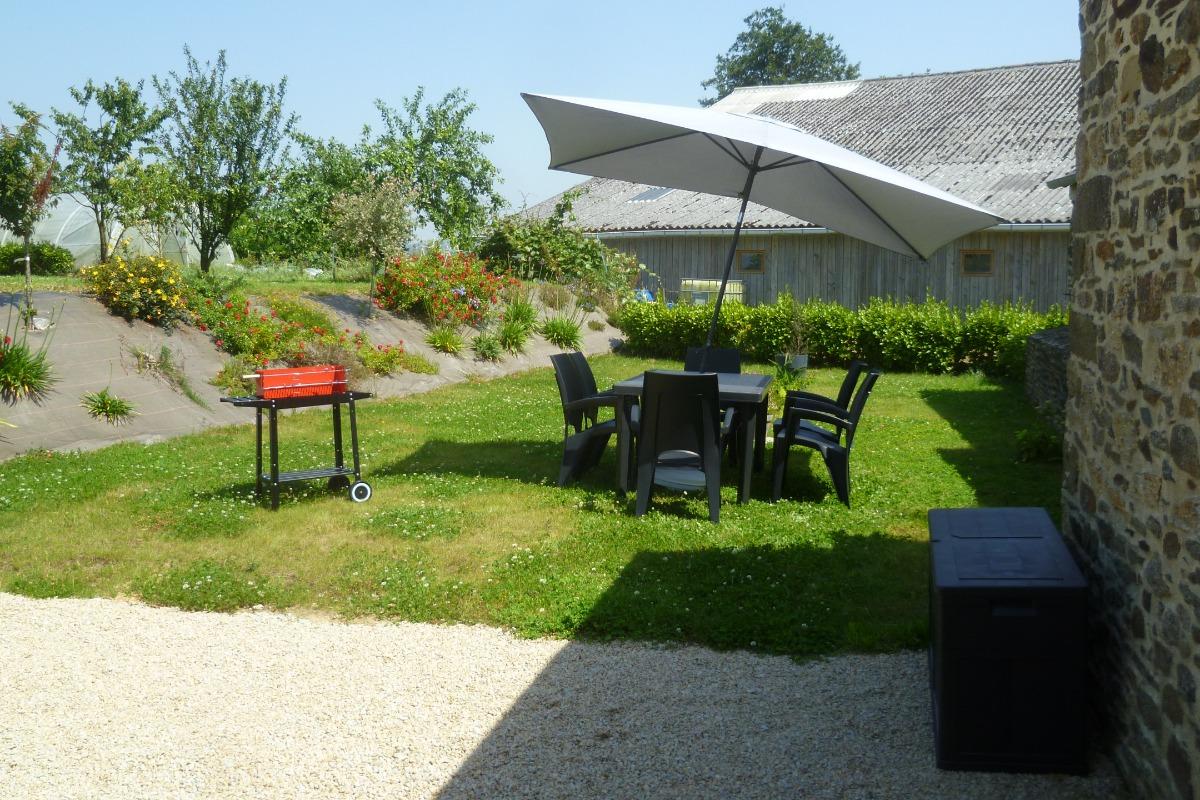 jardin privatif - Location de vacances - Pleyben