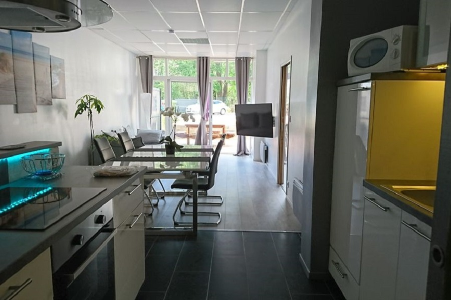 cuisine salle salon  - Location de vacances - Combrit