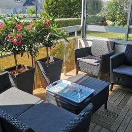 Balcon avec salon de jardin - Location de vacances - Bénodet