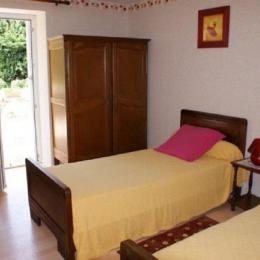 Chambre avec 2 lits 90cm - Location de vacances - Fouesnant