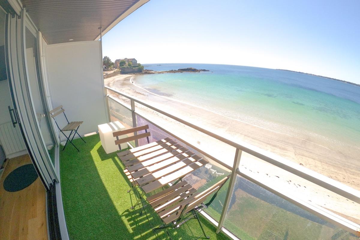 Balcon avec vue mer - Location de vacances - Concarneau