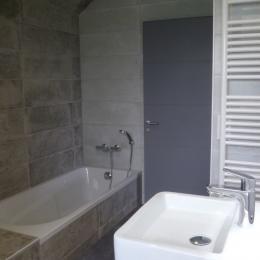 Chambre avec lit 180 à l'étage - Location de vacances - Carantec