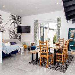 Salon-séjour avec coin cuisine - Location de vacances - Roscoff