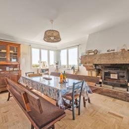 Salon  avec vue mer - Location de vacances - Plozévet