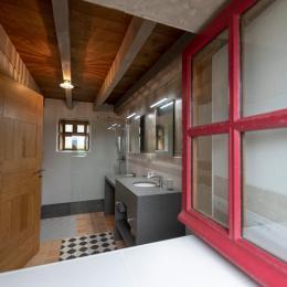 salle d'eau au RDC avec douche à l'italienne - Location de vacances - Commana