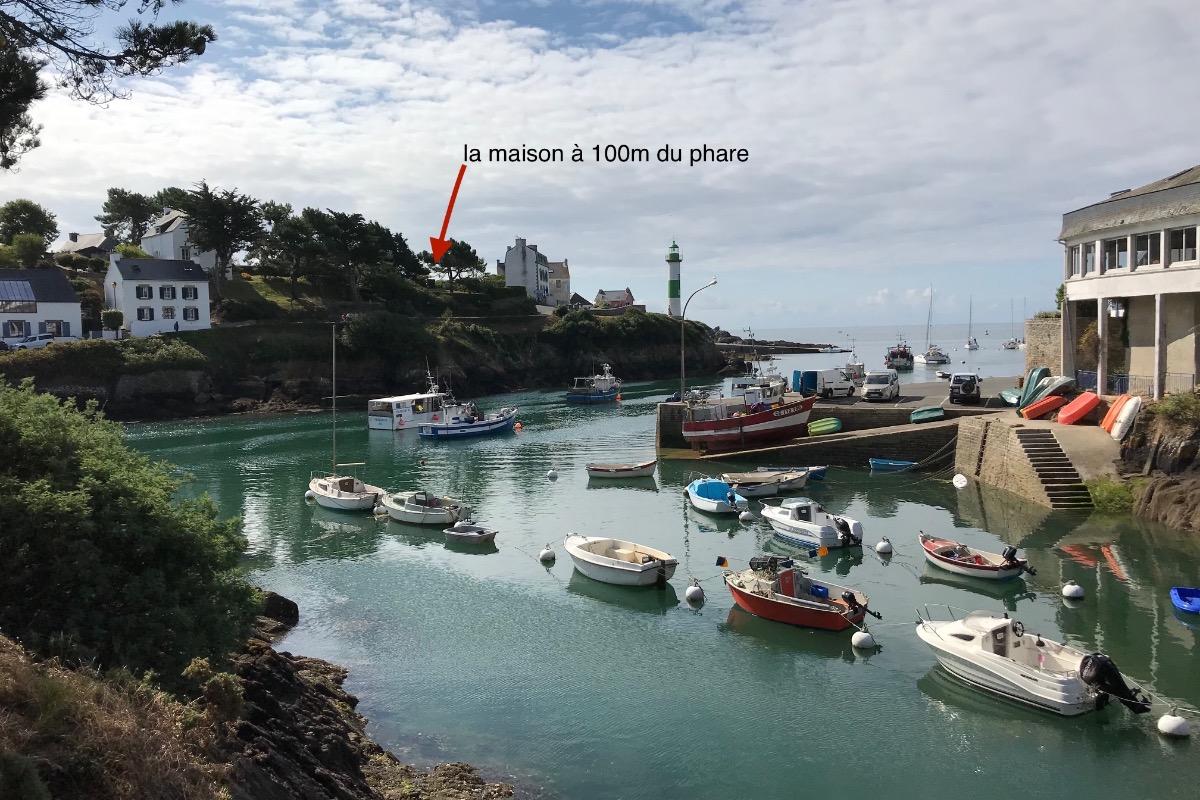 vue du terrain et du port (à pied à 100 mètres) - Location de vacances - Clohars-Carnoët