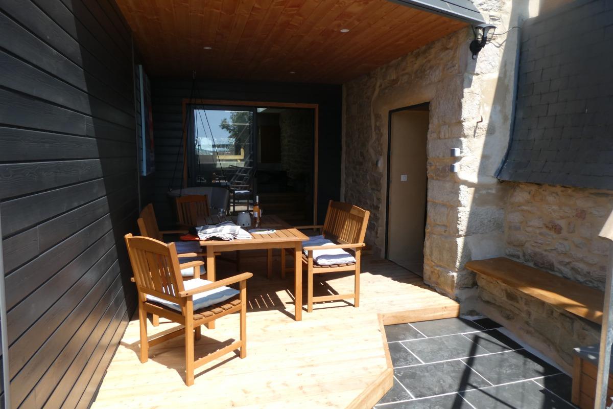 terrasse avec accès au SPA intérieur - Location de vacances - Plozévet