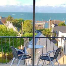 Vue mer depuis le salon - Location de vacances - Concarneau