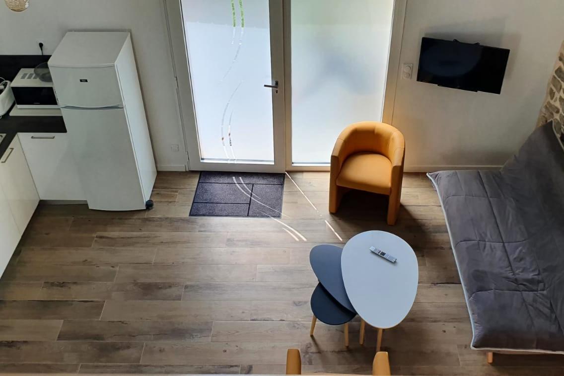 Cuisine et salon - Location de vacances - Saint-Renan