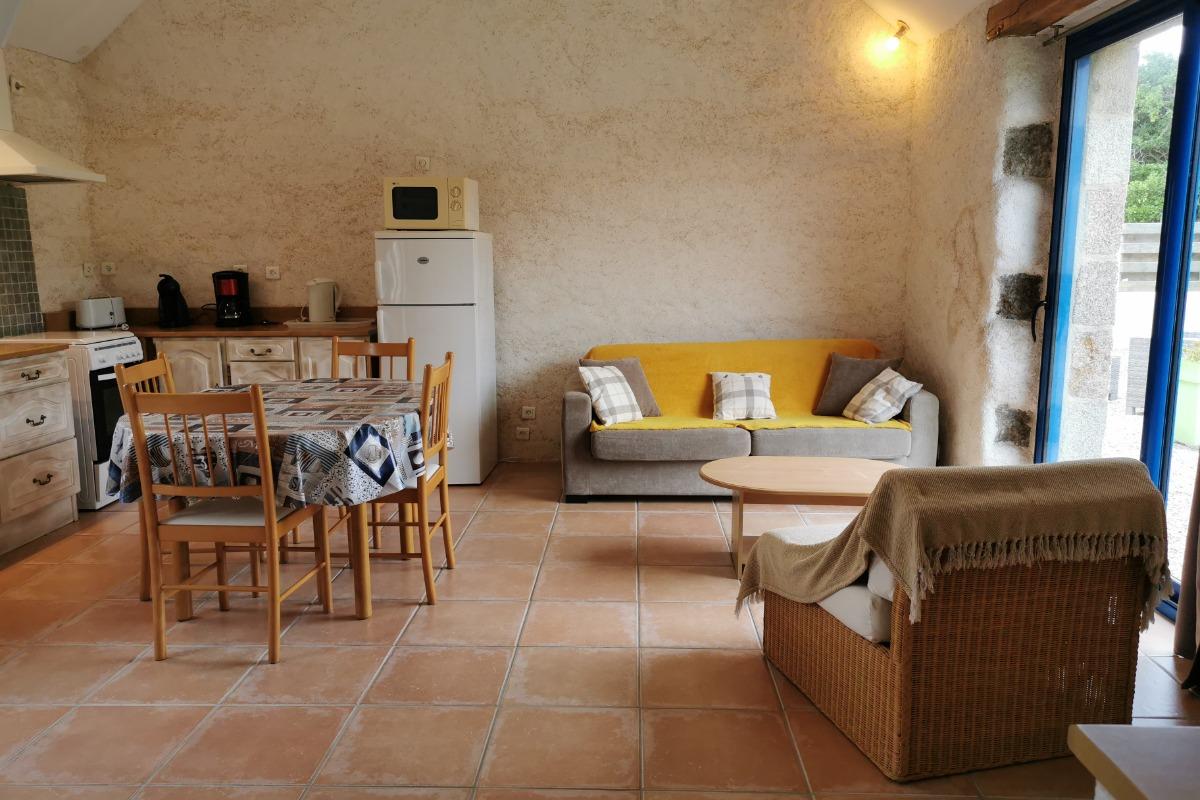 Espace séjour - salle à manger - Location de vacances - Plourin