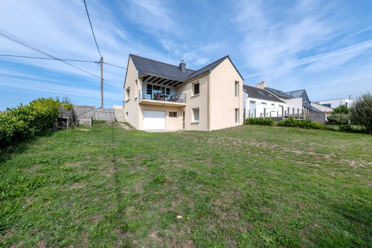 Salon avec vue sur mer - Location de vacances - Plouescat
