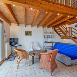 Niveau 1: Chambre avec 2 lits 90 - Location de vacances - Plouescat