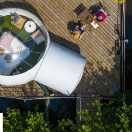 La bulle flottante sur l'étang - Chambre d'hôtes - La Roche-Maurice