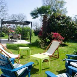 Extérieur - espace détente et repas - Location de vacances - Fouesnant