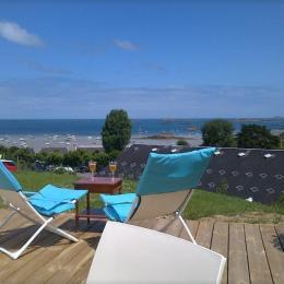 Vue mer depuis la terrasse - Location de vacances - Carantec